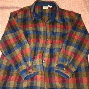 vintage oversized shirt jacket